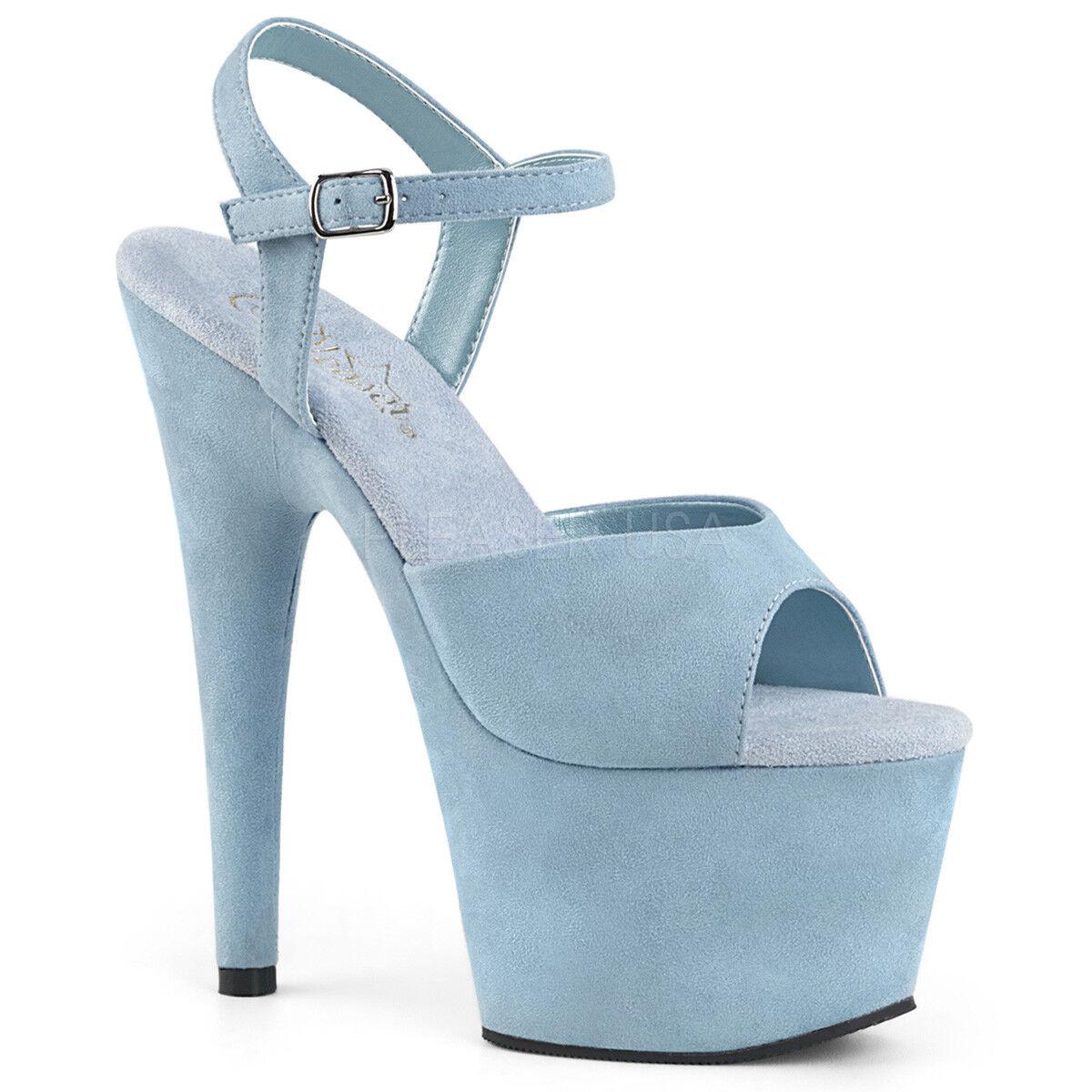 7  bébé daim bleu plateforme talons Strip-teaseuse gogo danseuse chaussures Pleaser adore - 709FS
