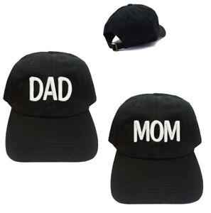 DADDY//MAMI  dad//mom Summer hat Adjustable Black//White Baseball Caps
