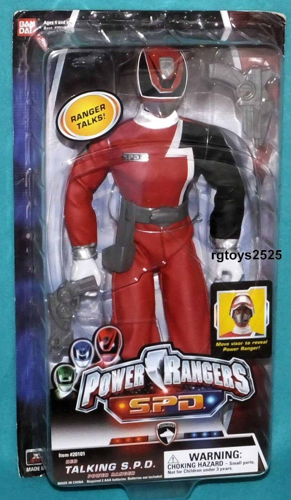 Power Rangers SPD rouge 12   Talking Ranger Factory Sealed nouveau 2004  prix ultra bas