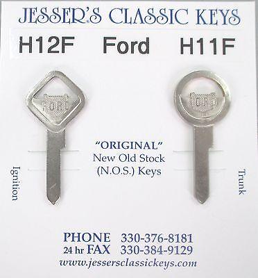 Vintage FORD Nickel NOS Keys 1932 1933 1934 1935 1936 1937 1938 1939 1940 1941
