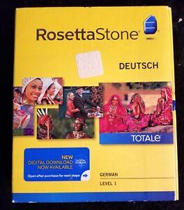 ROSETTA STONE -GERMAN DEUTSCH TotalE SET Level 1 Version 4