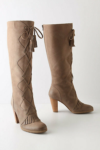 NIB Anthropologie Boots Tracy Reese Fringed Knee High Boots Anthropologie Size 39 41 b5a697