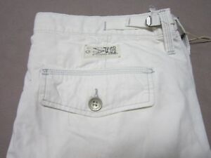 TRUE RELIGION MENS SPECIAL OPS WHITE CARGO STRAIGHT LEG JEAN PANTS SIZE 38 NEW
