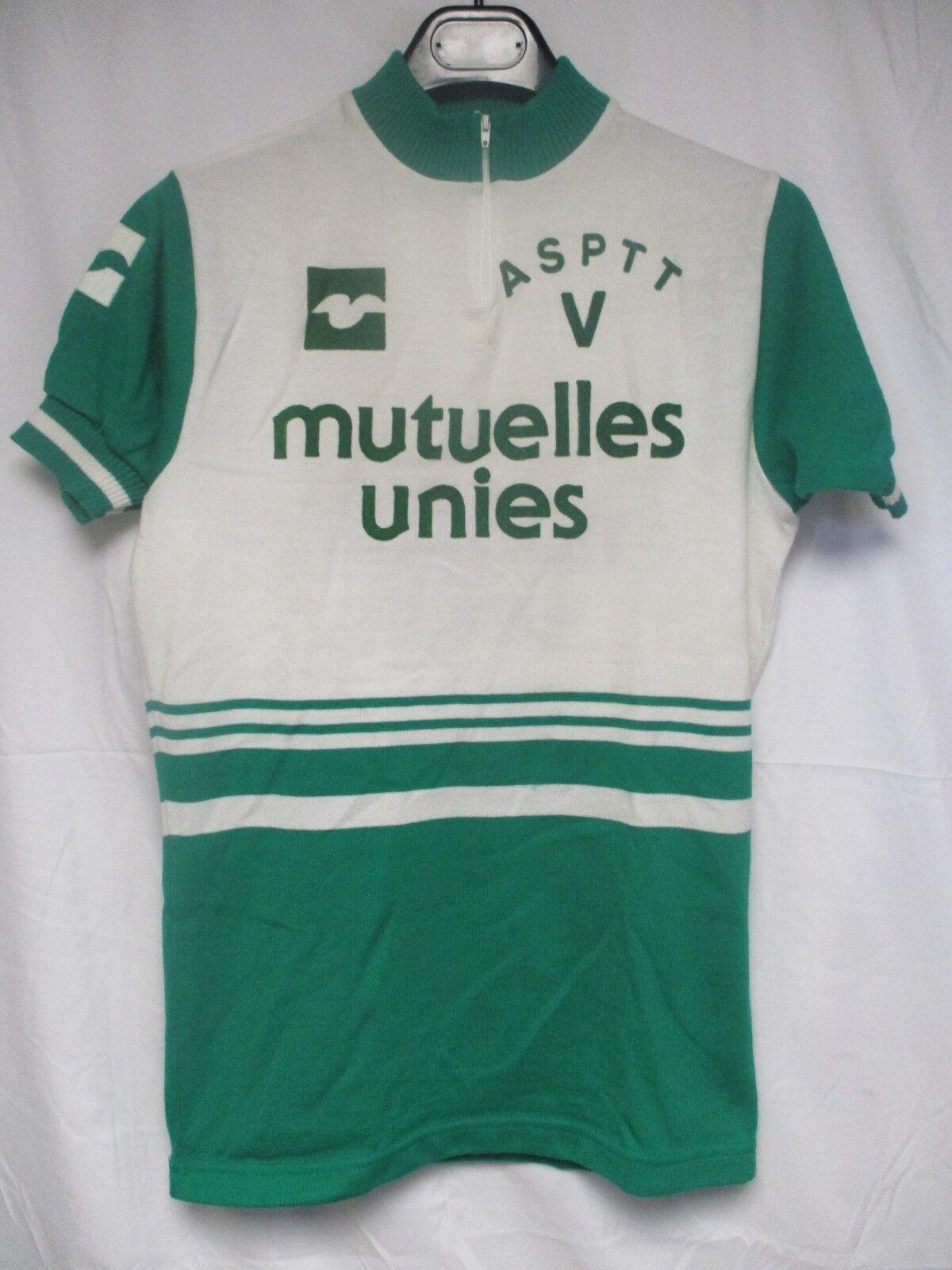 Maillot cycliste vintage ASPTT MUTUELLES UNIES shirt jersey trikot maglia 70's M
