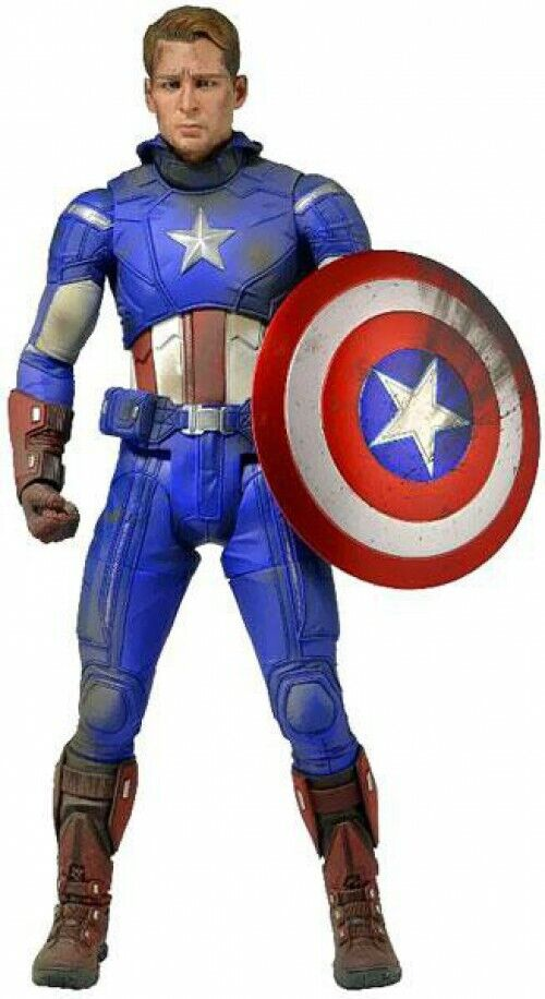 Cuarto Marvel Vengadores Figura De Acción Capitán América de escala Battle Damaged []