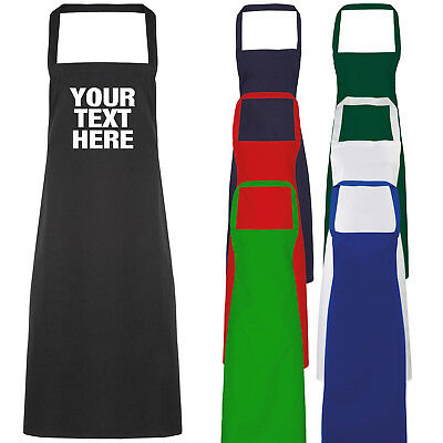Baking Cooking Chef Business Gift Childs White Custom Personalised Apron