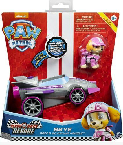 PAW PATROL Ready Race Rescue Skye Race /& Go Deluxe véhicule