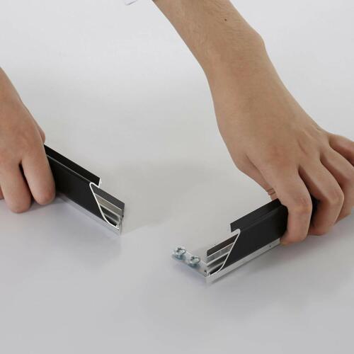 "Black Portable Snap Frame 1.25/"" with White Backing /& Anti-Glare 24x36 Size"
