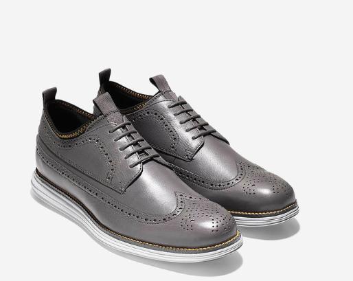 250 NEW Cole Haan Original Original Original Grand Neoprene Lined Wingtip Oxford Men Size 7 Grey 714936