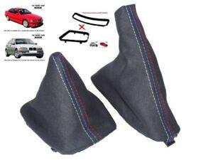 Para-BMW-3-Series-E36-E46-1991-05-Gear-amp-Polaina-Gamuza-M3-Costura-De-Freno-De-Mano