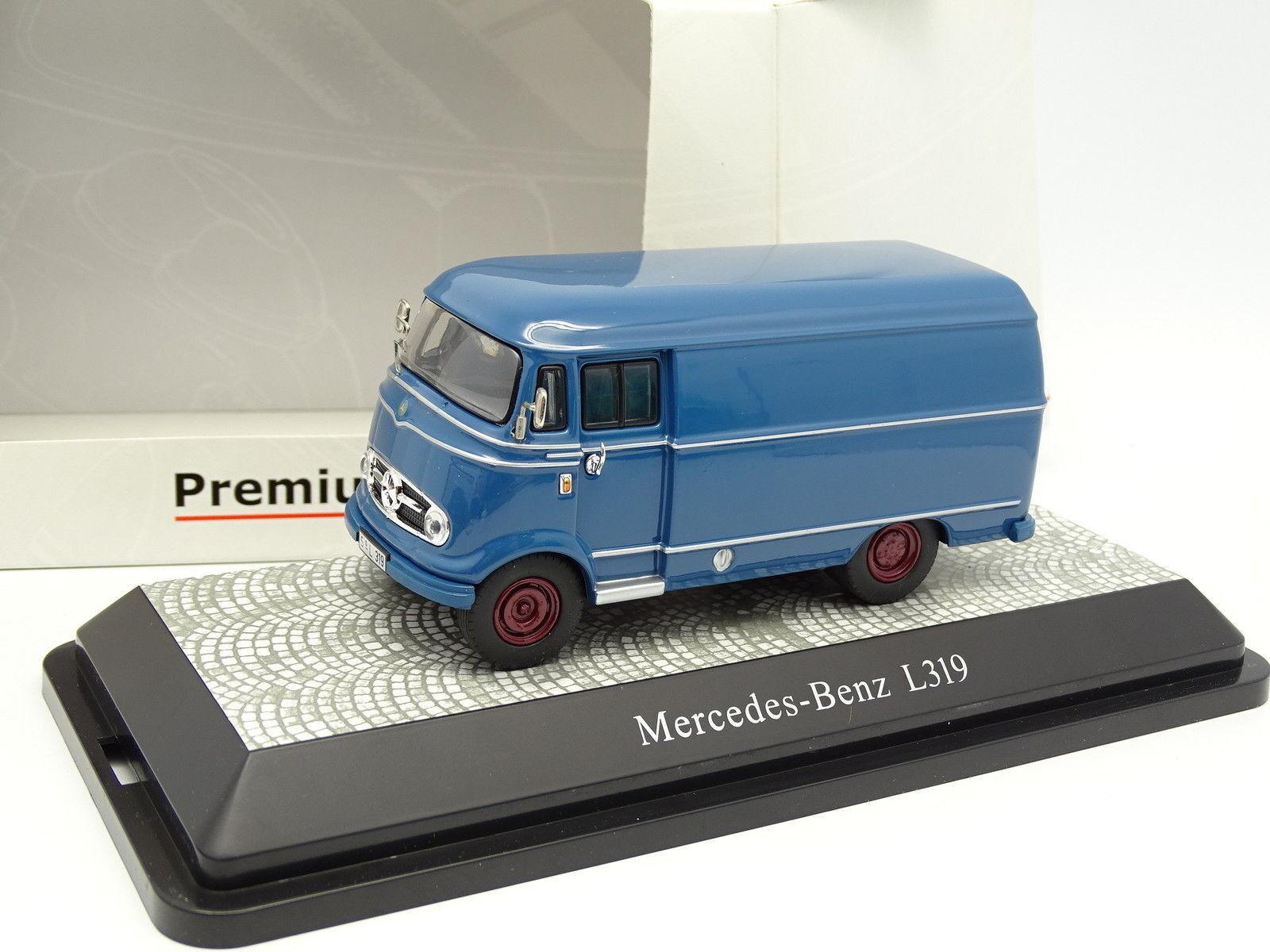 Premium classixxs 1 43 - mercedes l319 van bluee