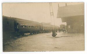 RPPC-PRR-Erie-Pennsylvania-Railroad-Depot-Station-CORRY-PA-Real-Photo-Postcard