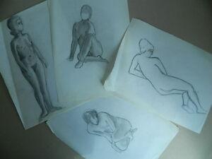 Zeichnung Künstlerisch Antik Studie Von Nackt Schruppfräser Au Bleistift