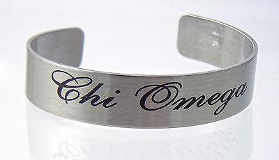 Chi Omega, XΩ, Braggin' Bracelet Stainless Steel 6 or 7 Inch By McCartney