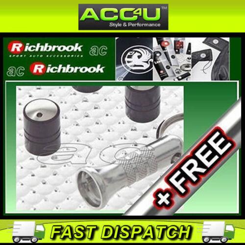 Richbrook Spinning BLACK anti furto dell/'auto valvola tappi polvere set di 4 GRATIS