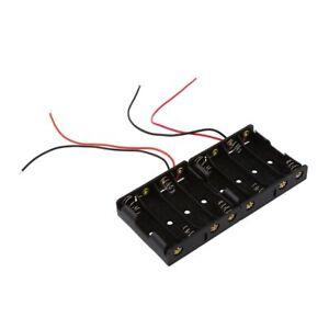 SODIAL-R-2-Stueck-Schwarz-4-x-1-5-V-AA-Batteriehalter-Speicher-mit-Anschlus-OE