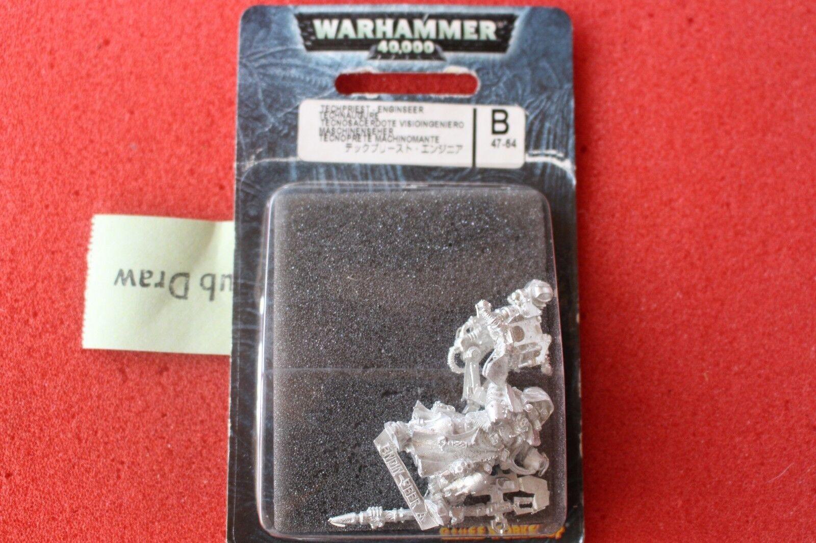 Games workshop warhammer 40k techpriest enginseer n1 adeptus mechanicus metall gw