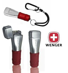 WENGER-FIDIS-SWISS-ARMY-FLINT-amp-WICK-CAMPING-LIGHTER-RED-CAMPING-SURVIVAL