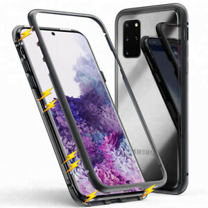 Magnet-Bumper-Case-fur-Galaxy-S7-edge-S8-S9-Plus-Handy-Hulle-Glas-Metall-Hulle