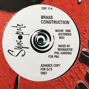 Brass-Construction-Movin-039-1988-UK-Vinyl-12-034-Promo-12SY11-MINT-UNPLAYED