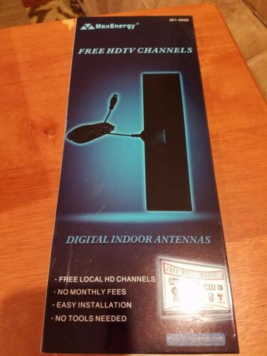 Free Local HD Channels 301-0030 NEW Digital Indoor HDTV Antenna MaxEnergy