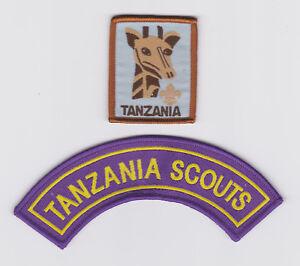 SCOUTS OF GAMBIA Boy /& Girl Scout Membership Rank Award /& Strip Patch SET