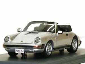 PORSCHE 911 Carrera Cabrio - USA - silver - NEO 1:43
