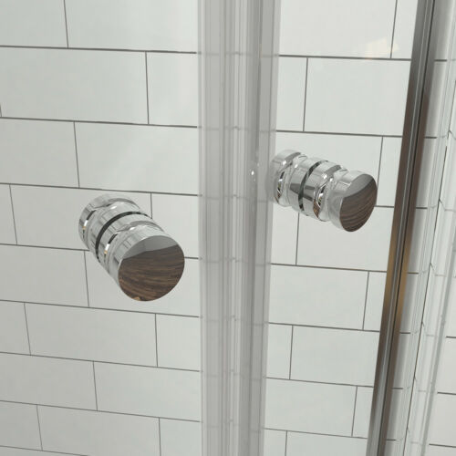 Duschabtrennung Eckeinstieg 90x90x185cm Duschkabine Viertelkreis Schiebetür Glas