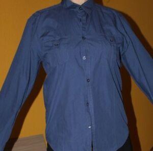 outlet store f5f9d cf2e8 Details zu blaues Herrenhemd Gr. L 41/42
