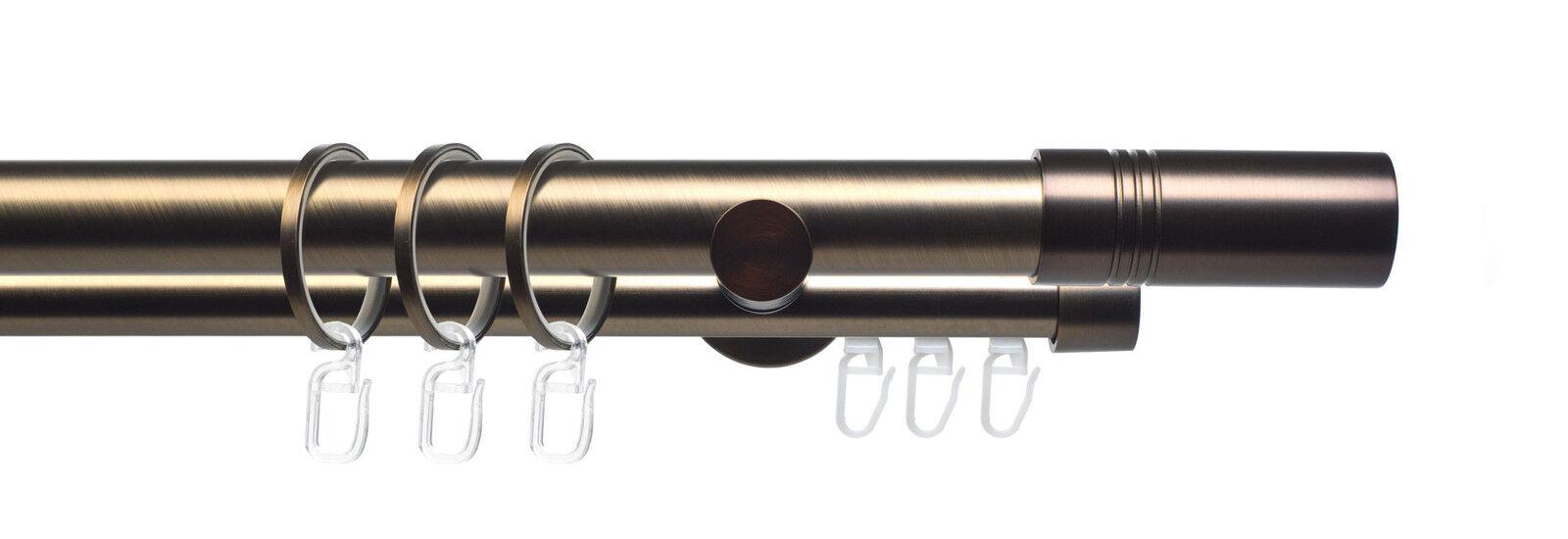 Gardinenstange Vorhangstange Stilgarnitur Celtic Zylinder 25 25 25 mm bronze f51a5d