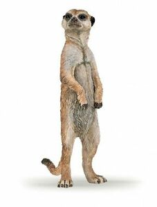 STANDING-MEERKAT-Replica-50206-New-for-2016-FREE-SHIP-USA-w-25-Papo-Items