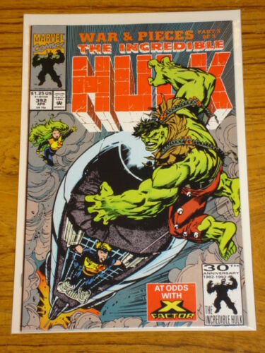 INCREDIBLE HULK #392 VOL1 MARVEL COMICS X-FACTOR APRIL 1992