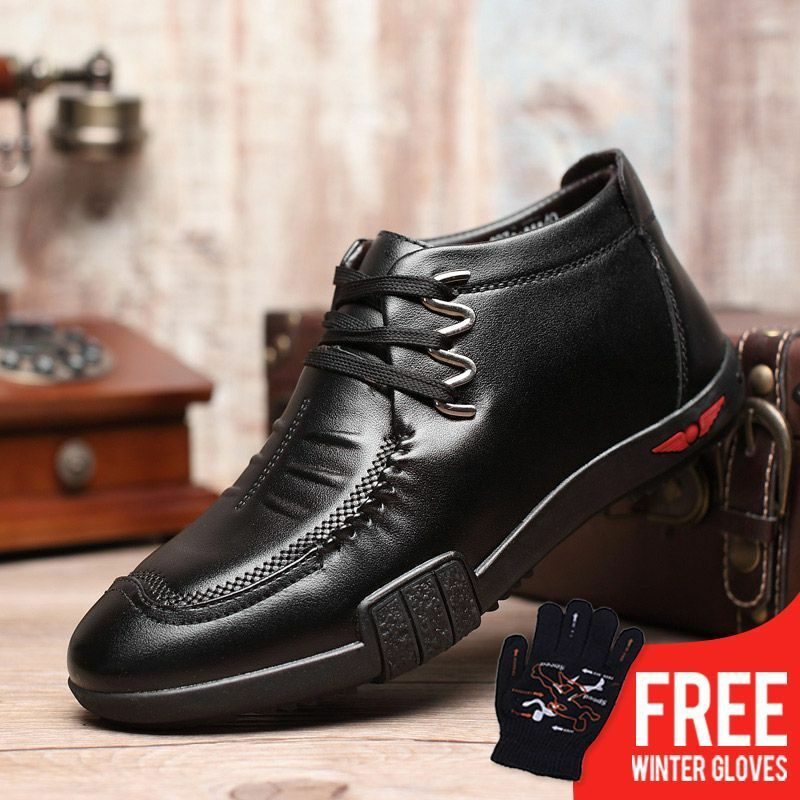 ordinare on-line Warm Plush Winter scarpe Fashion Fashion Fashion Uomo Snow stivali Zipper Male nero Ankle avvio New  saldi