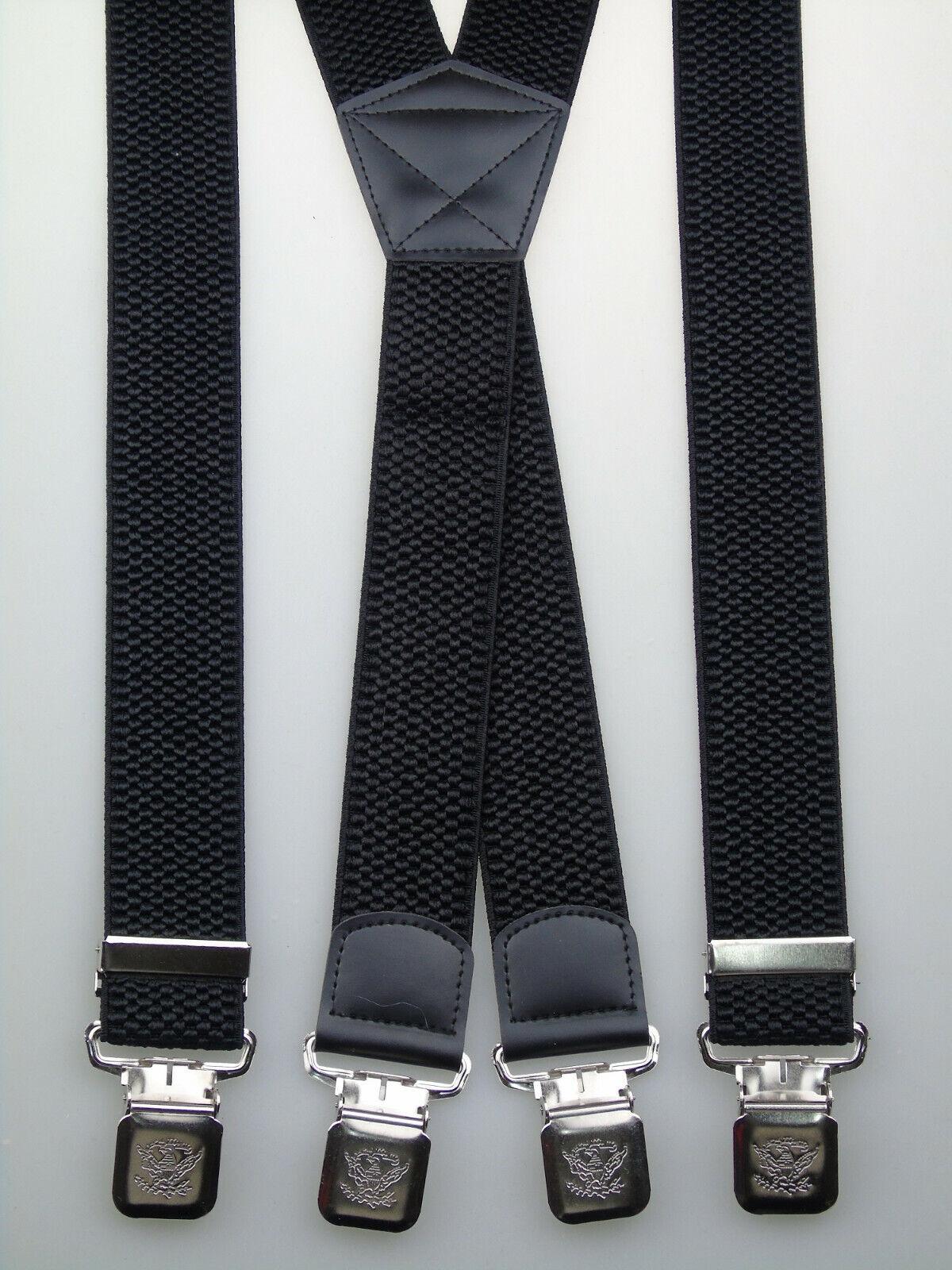 extra starke X-Hosenträger 40 mm breit versch. Farben wählen starke Krallenclips
