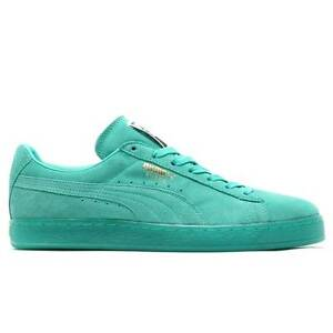 timeless design c8dff 771bc Details about PUMA SUEDE CLASSIC + ICED PACK 357251 01 POOL GREEN ICE SOLE  FOUNDATION DIP DYE