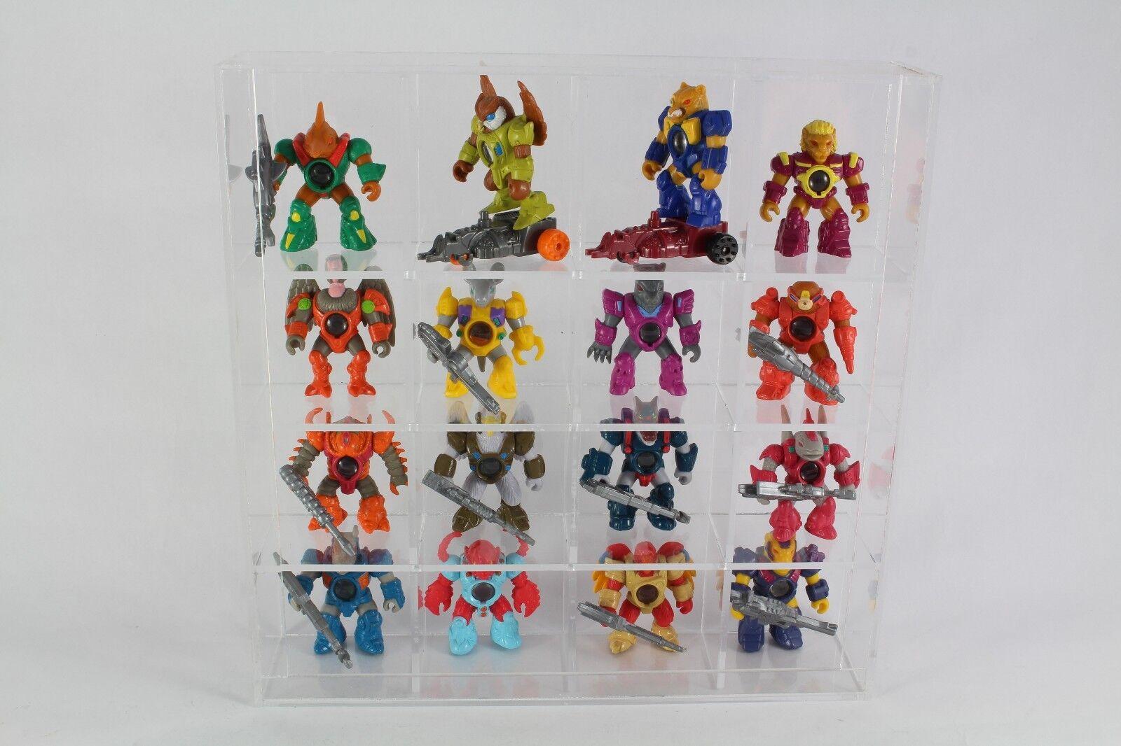 Acrylic Acrylic Acrylic Display Case For Battle Beasts Lego etc (Holds 16) Figures Not Included d72e9b