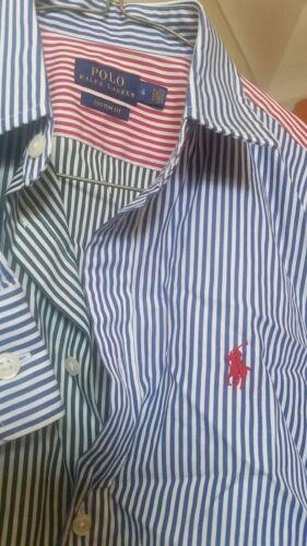 shirt Polo lange Ralph Nwot en Lauren lange met mouwen gestreept mouwen Meerkleurig n1fqT
