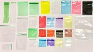 Lot Sachet Pochette Pochon Pocheton ZIP Plastique 44 Tailles Différente Couleur
