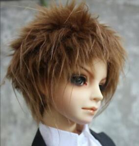 22-23cm Dark Brow Short Boy Fur Wig For 1//3 BJD SD AA DOLLFIE Antistited