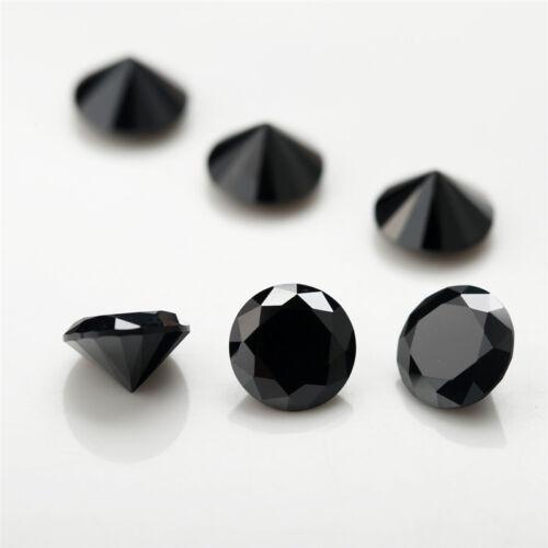 50PCS Mutil Colors Round Birthday Stone Loose Cubic Zirconia CZ Stone 4-6mm