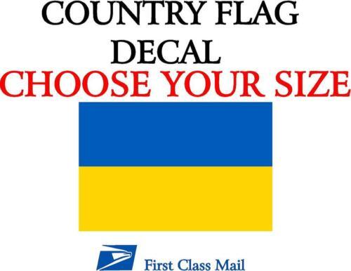 DECAL STATE FLAG STICKER 5YR VINYL UKRAINIAN COUNTRY FLAG