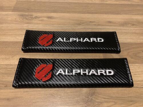 2X Seat Belt Pads Carbon Gifts Alphard Vellfire MZ Japan 7 8 Seats G Edition AS