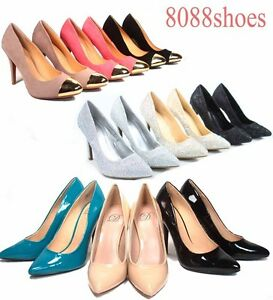Women-039-s-Sexy-Pointy-Toe-Bridal-Stiletto-High-Heel-Pumps-Shoes-All-Size-5-5-11