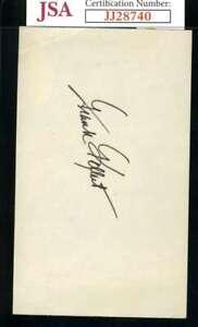 Frank Kellert JSA Coa Autograph Hand Signed 3x5 Index Card