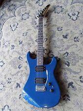 1980s Kramer XLII Electric Guitar humbuckers tremolo OPAQUE BLUE FINISH