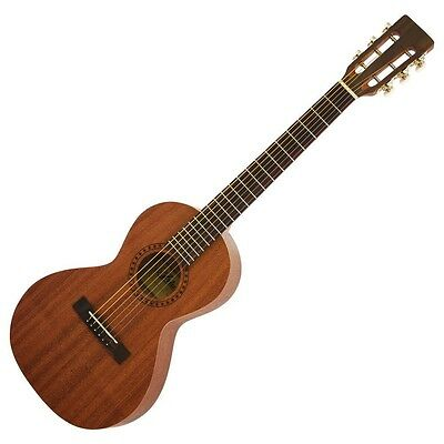 new aria mini acoustic guitar asa 18 n with case japan import with tracking 4944465085478 ebay. Black Bedroom Furniture Sets. Home Design Ideas