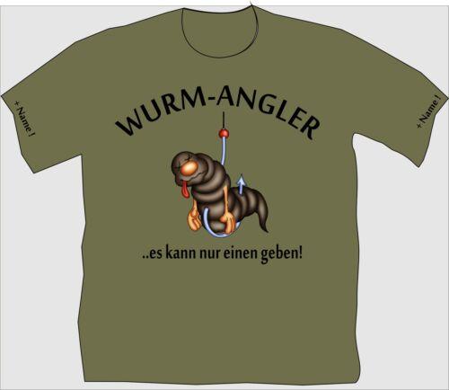 Angler T-Shirt Shirt Anglershirt Geschenk Angeln Geburtstag Wurmangler 205