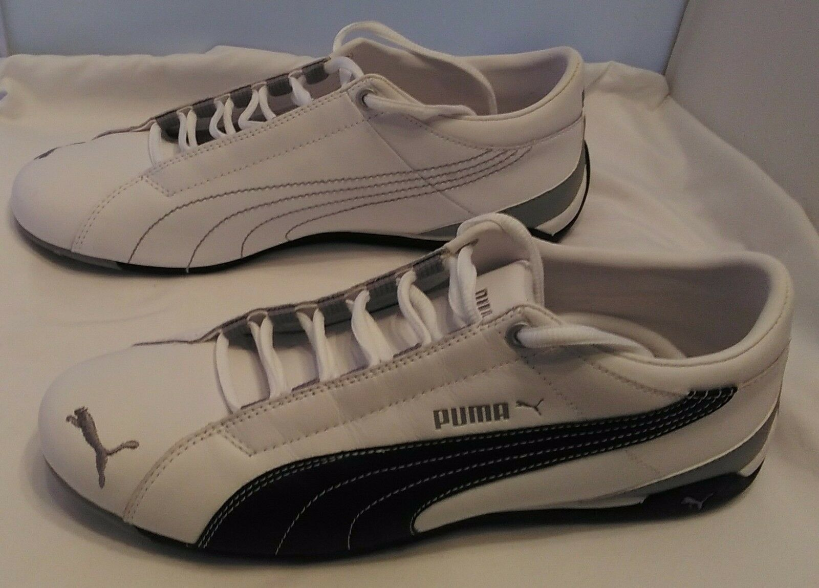 Puma cabana racer ii scarpe 347163 347163 scarpe noi m 10 perla blu di nuovo in scatola 004a1c