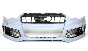 Fuer-Audi-A6-4G-RS6-Look-Stossstange-11-14-Wabengrill-Bumper-Kuehlergrill-Spoiler