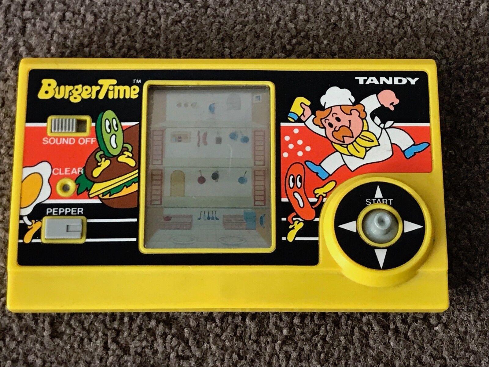 Tandy BurgerTimeElectronic Handheld, 1980s Original, Good Condition, Rare UK Ed